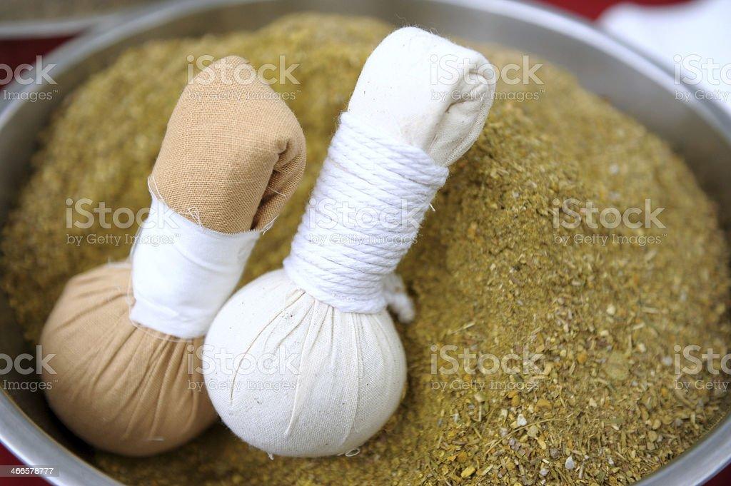 Thai herbal compress ball. royalty-free stock photo