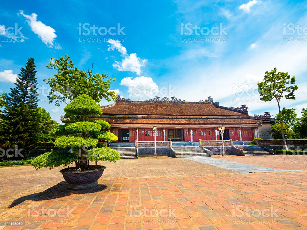 Thai Hoa Palace in the Imperial City in Hue, Vietnam stock photo