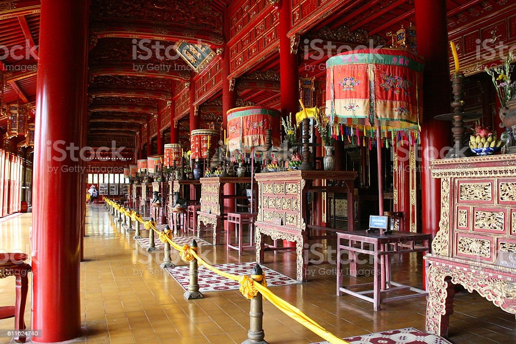 Thai Hoa Palace UNESCO World Heritage Site, Hue, Vietnam stock photo