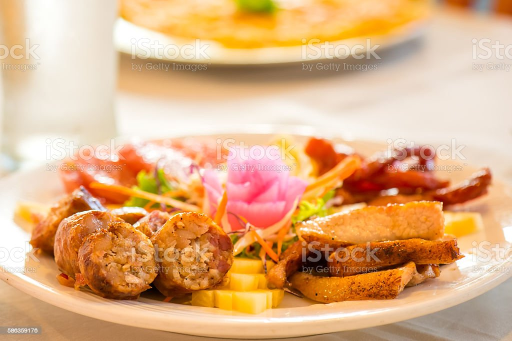 thai hors d'oeuvres stock photo