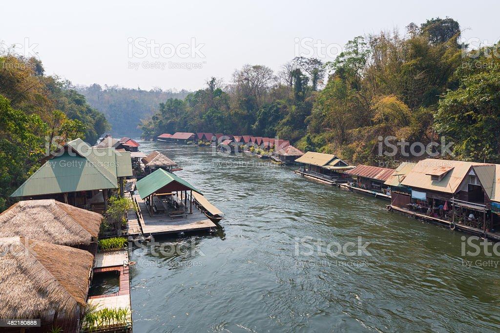 Thai houseboat stock photo