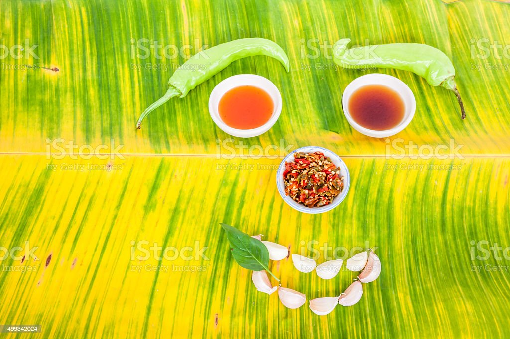 Thai ingredients in close up stock photo