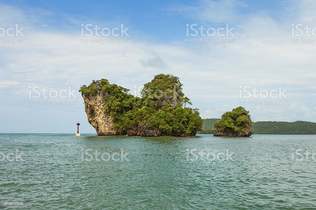 Thai Island with blue sky and sea stock photo