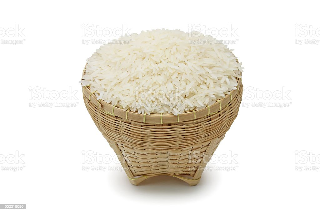 Thai jasmine rice stock photo