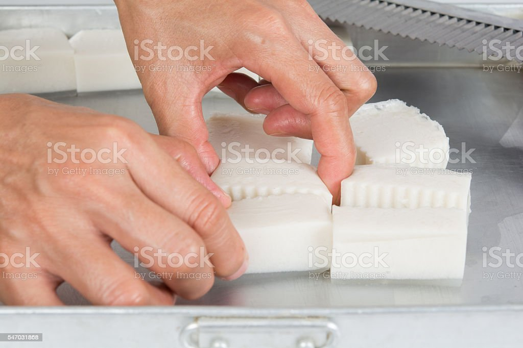 thai jelly preparing stock photo
