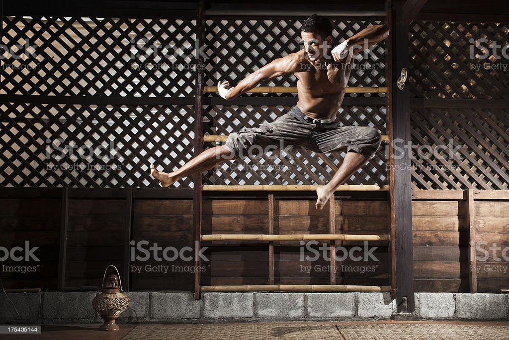 Thai Kick Boxing stock photo