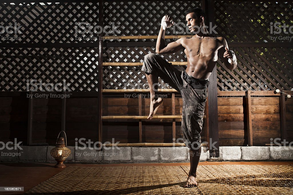 Thai Kick Boxing Training stock photo