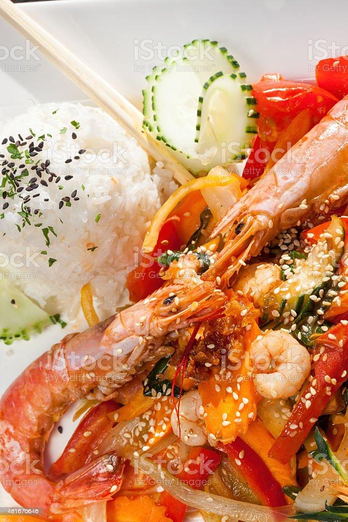 thai king prawns stock photo