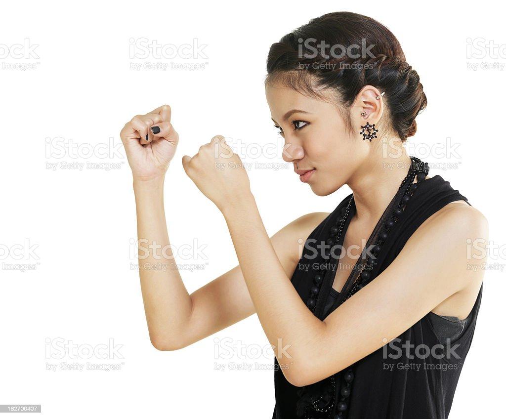 Thai Lady boxing royalty-free stock photo