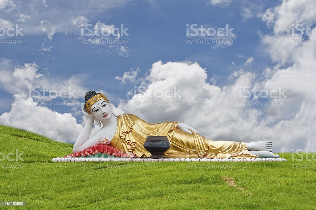 Thai Lanna Buddha Statue. Statue in Denchai,Phrae Thailand. royalty-free stock photo