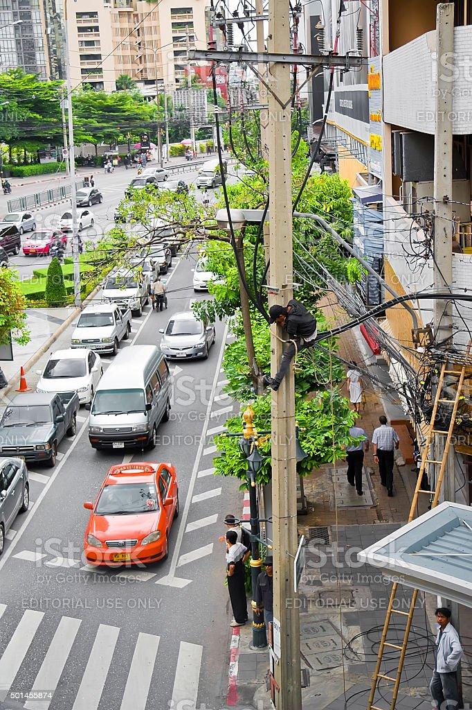 Thai 'Linesman' royalty-free stock photo
