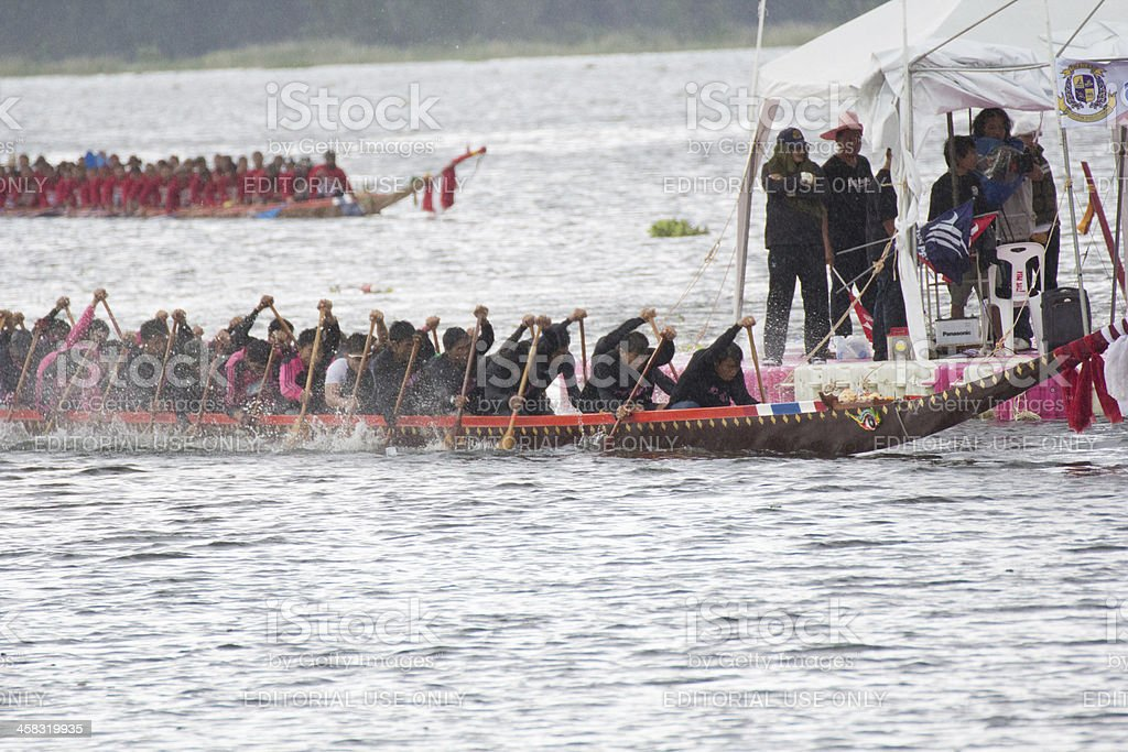 Thai long boat traditional compete royalty-free stock photo