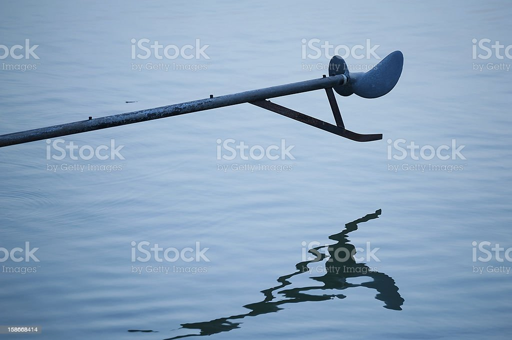 Thai long tail boat Propellers stock photo