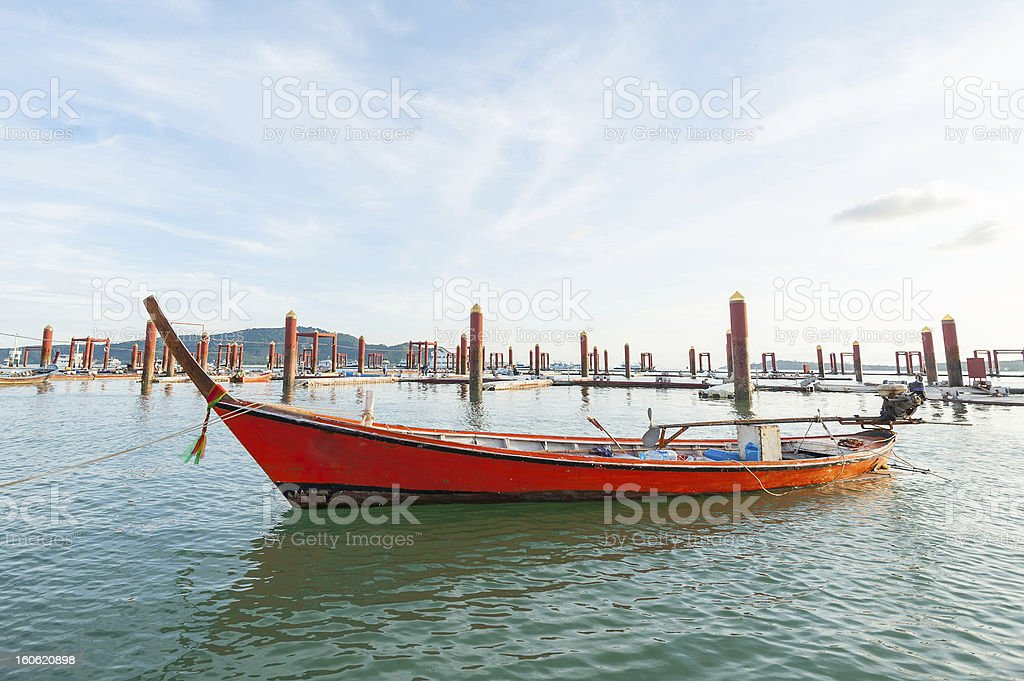 Thai Long tailed boat stock photo