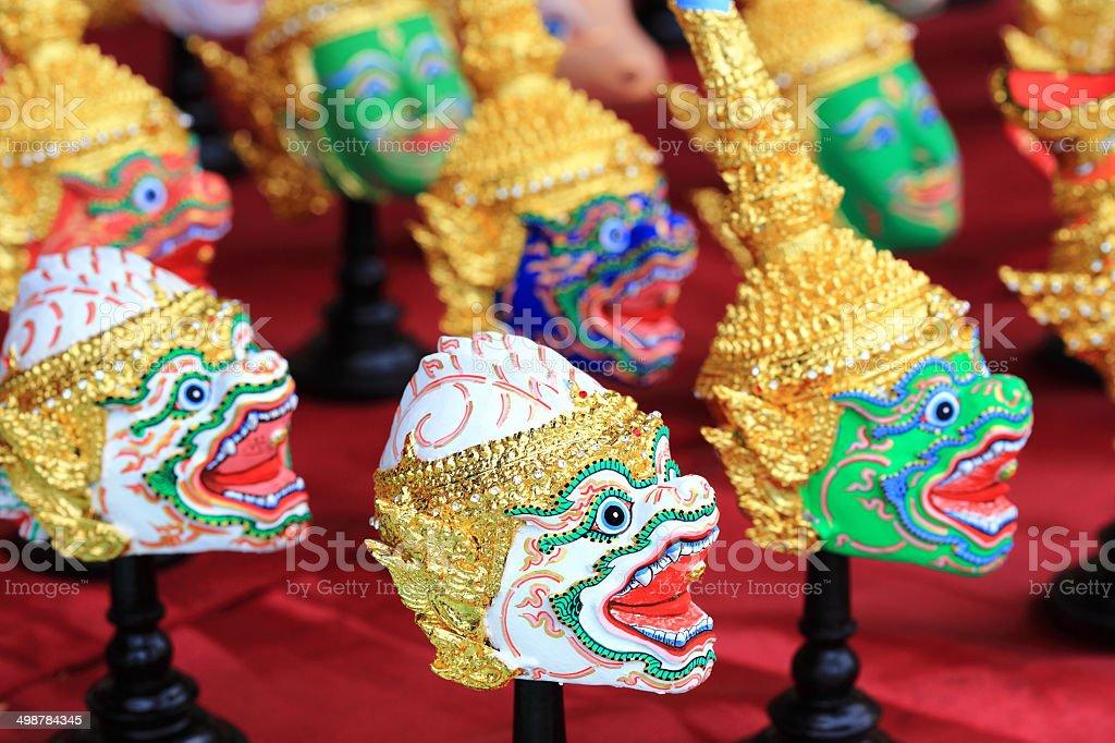 Thai mask that call khon stock photo