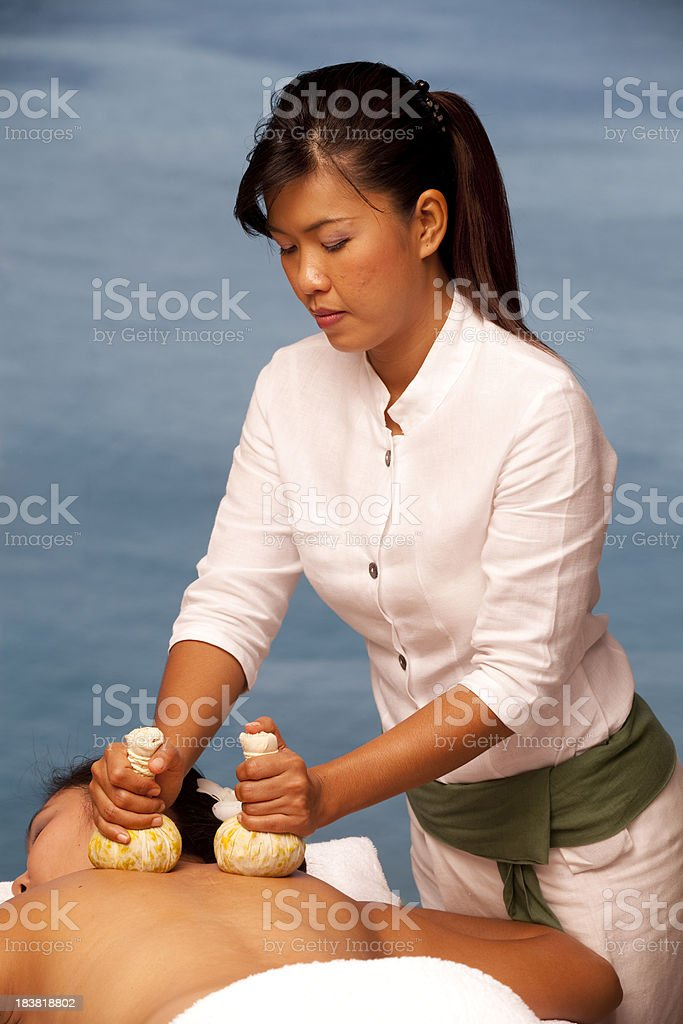 thai massage copy space royalty-free stock photo