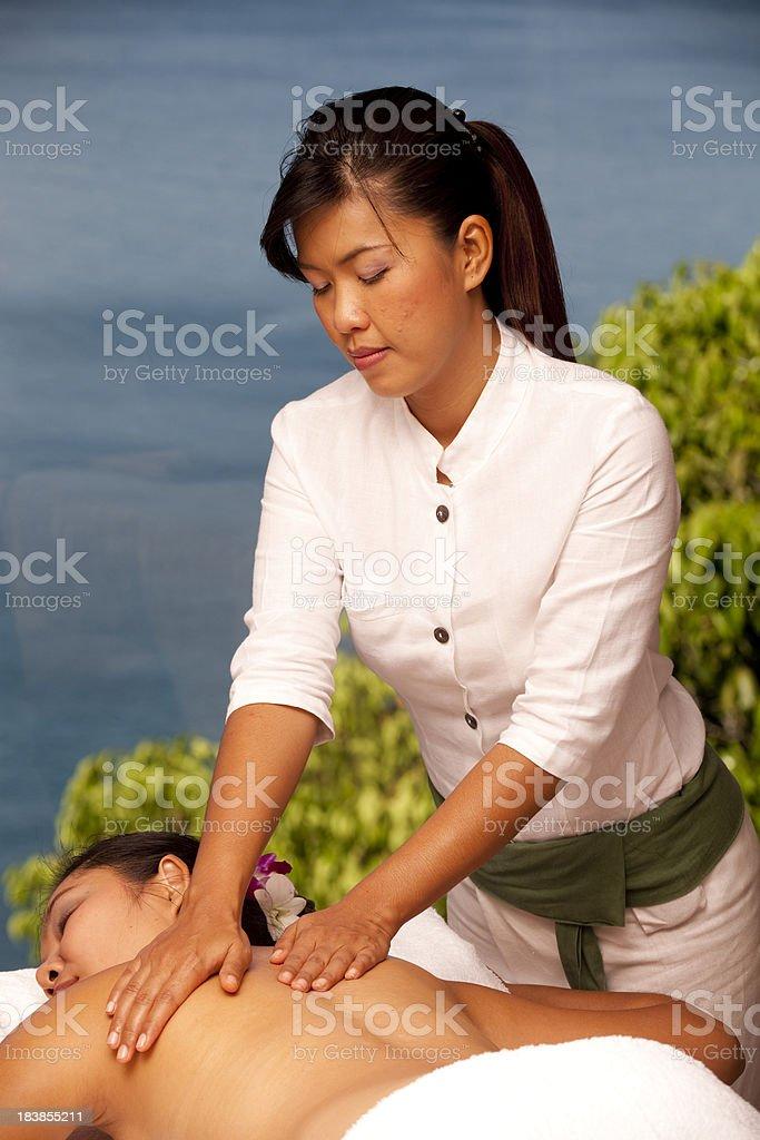 thai massage copy space royalty-free stock photo