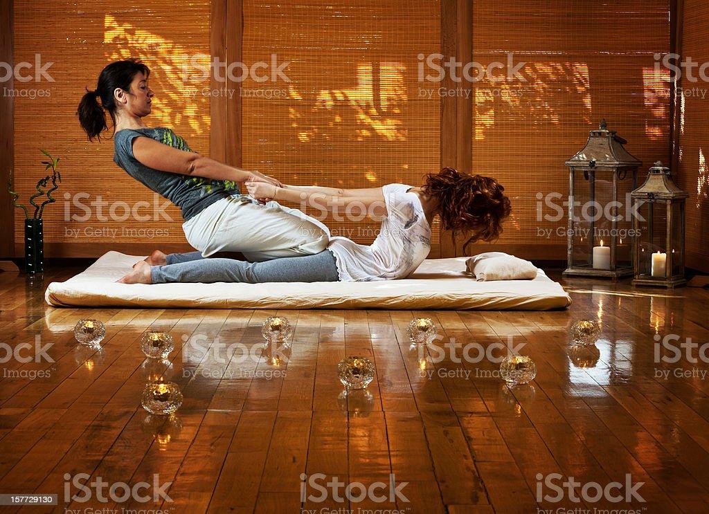Thai massage stock photo