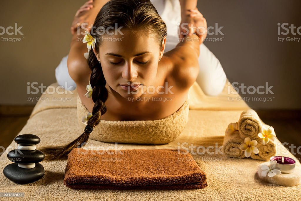 Thai massage stock photo