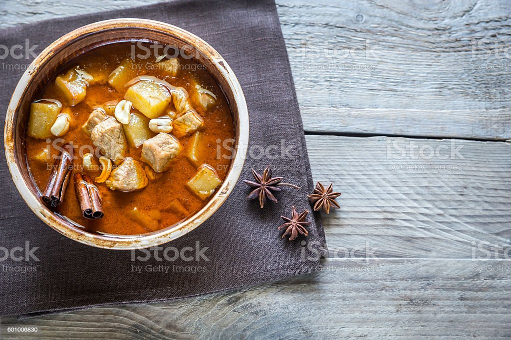 Thai Massaman Curry stock photo