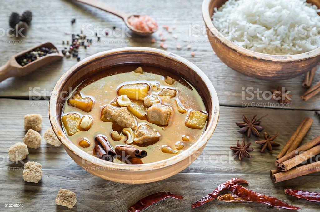Thai Massaman Curry stock photo
