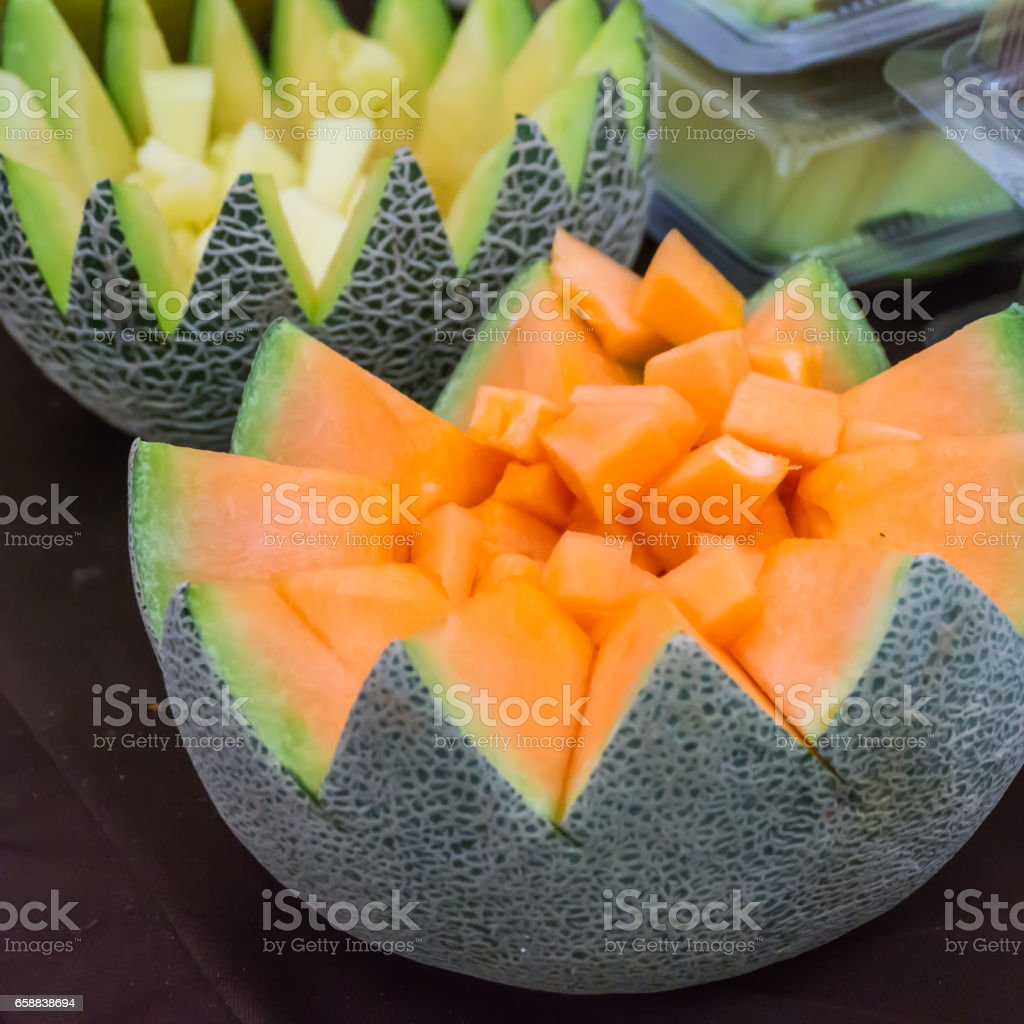 Thai melon stock photo