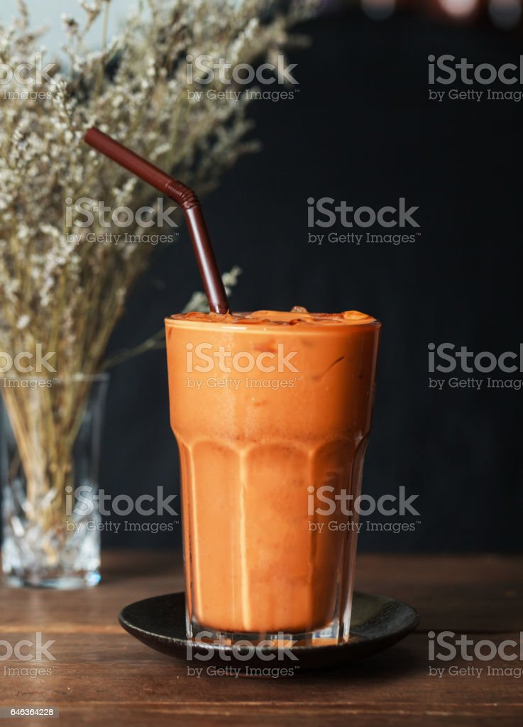 thai milk tea original stock photo