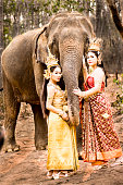 Thai Models and Elephant