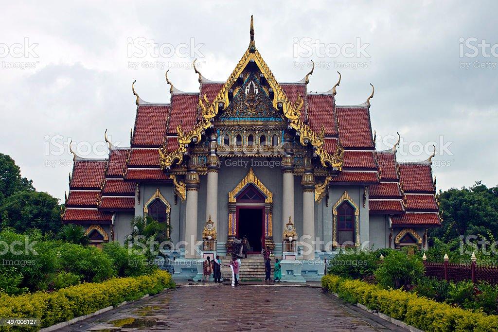 Thai monastery in Bodhgaya stock photo