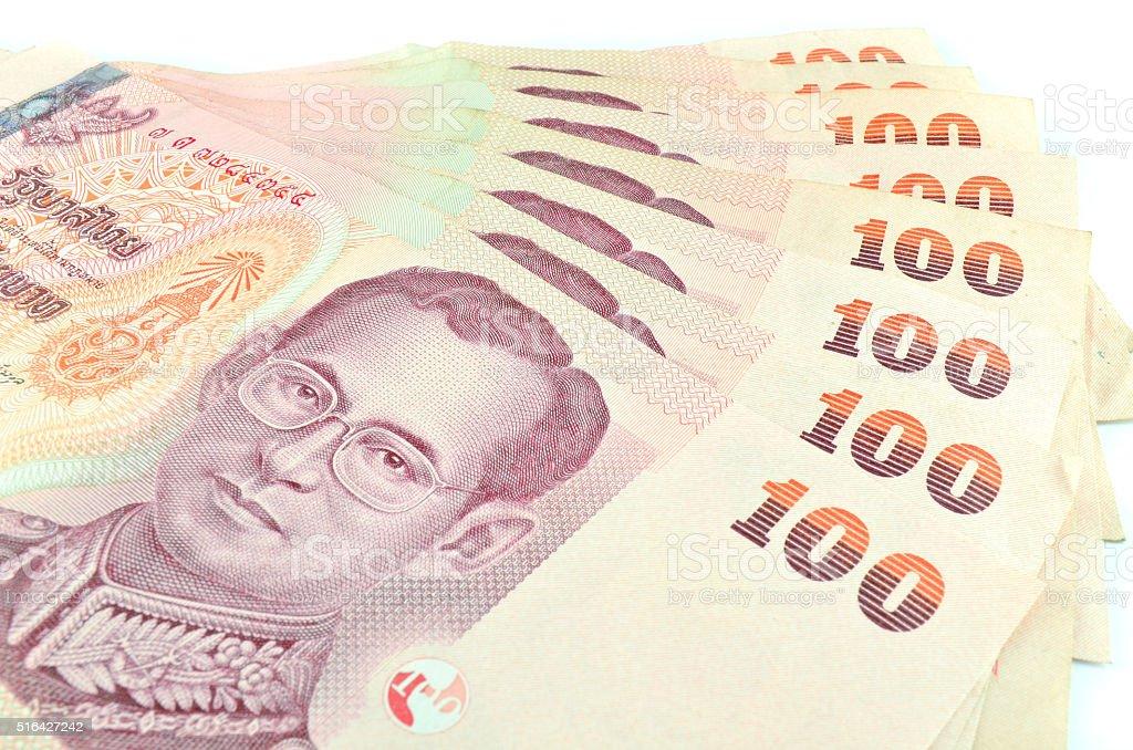 Thai money isolated stock photo