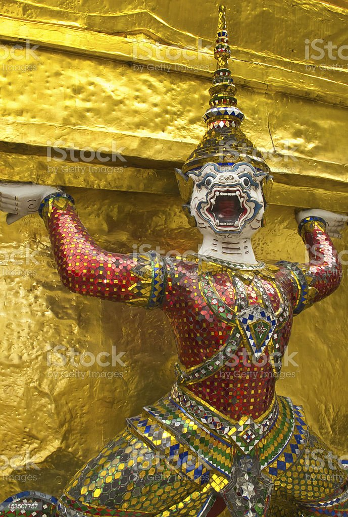 Thai monkey sculpture royalty-free stock photo