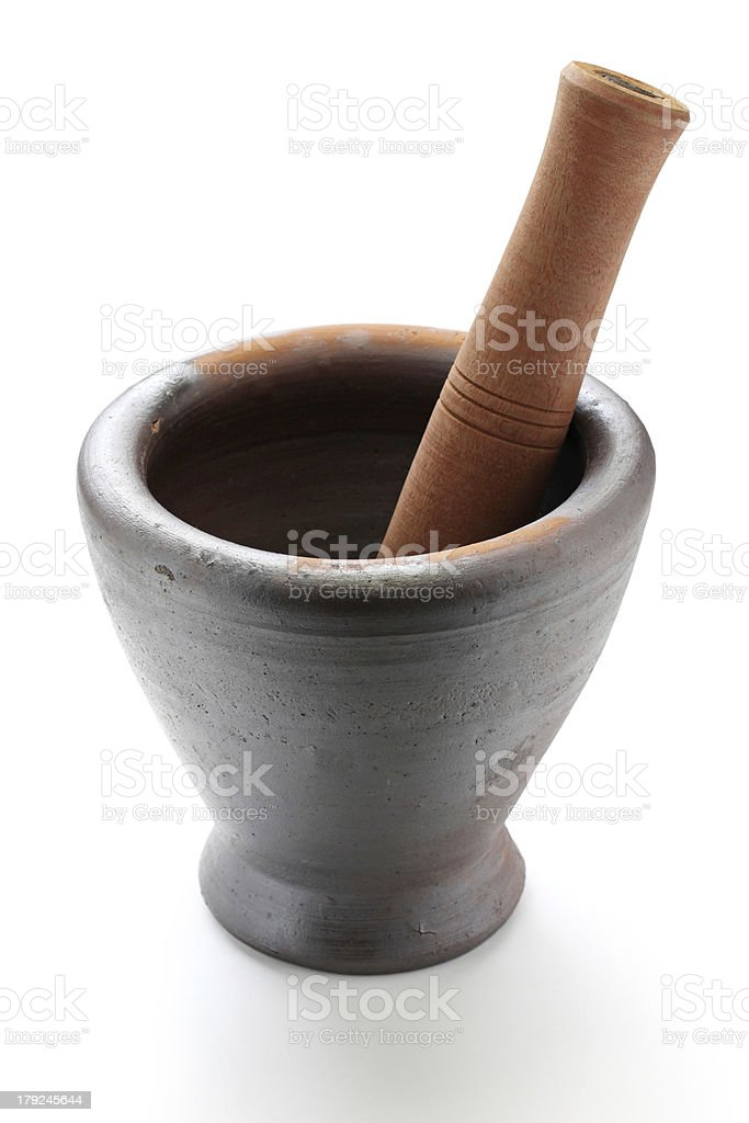 thai mortar and pestle royalty-free stock photo
