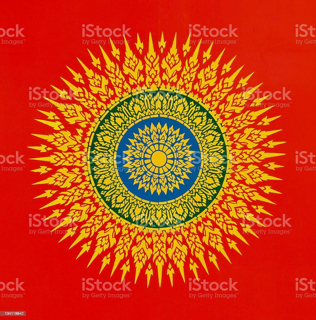 Thai motifs drawing royalty-free stock photo