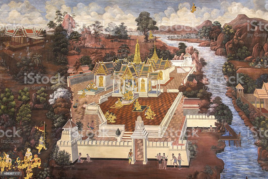 Thai Mural royalty-free stock photo