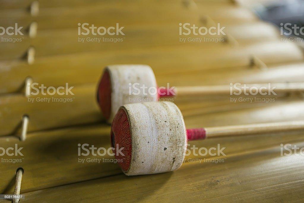 Thai musical instrument (Alto xylophone) stock photo