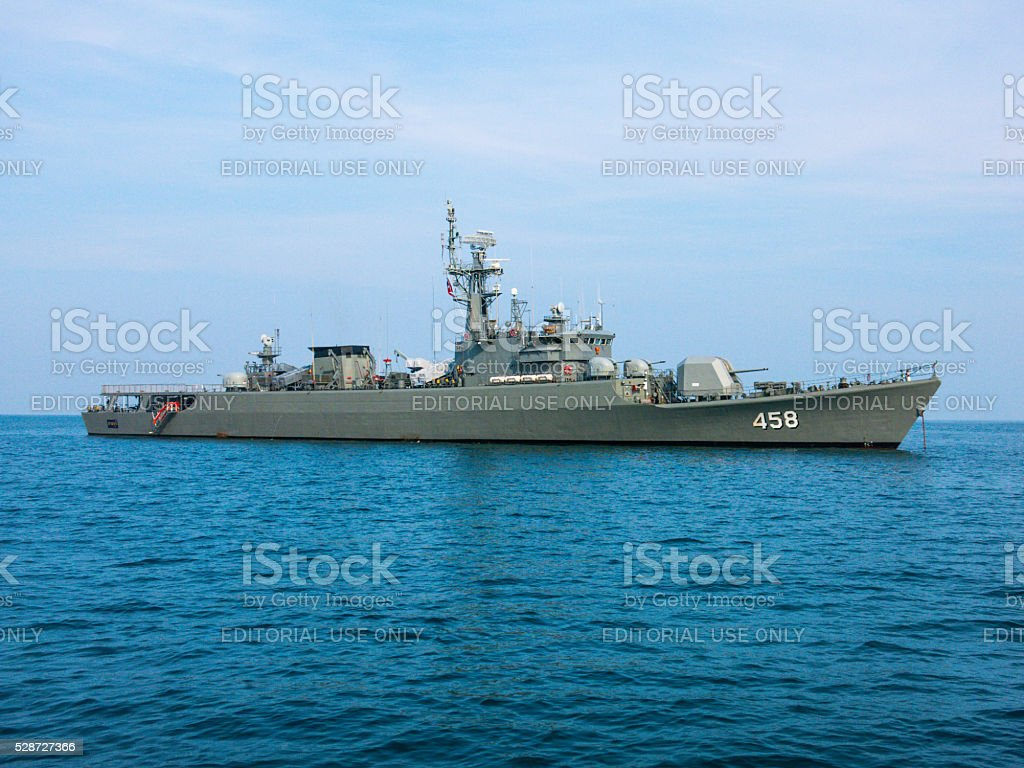 Thai Navy Boat Andaman Sea Thailand stock photo