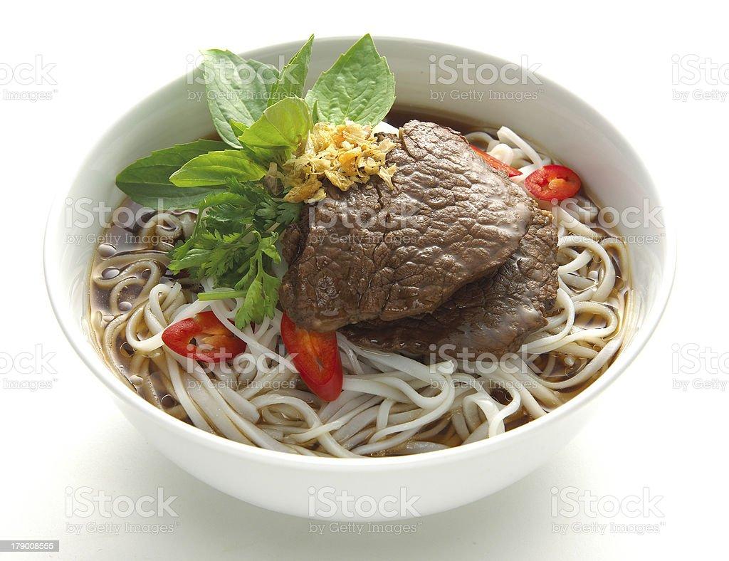 thai Noodle Soup royalty-free stock photo