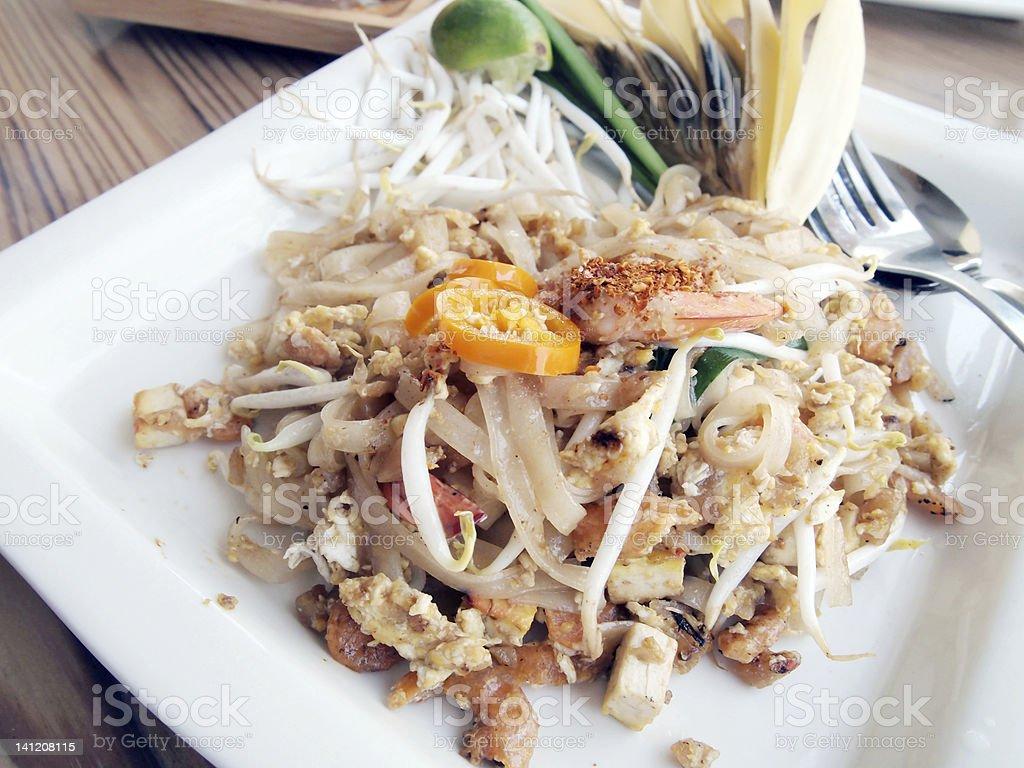 Thai noodle style royalty-free stock photo