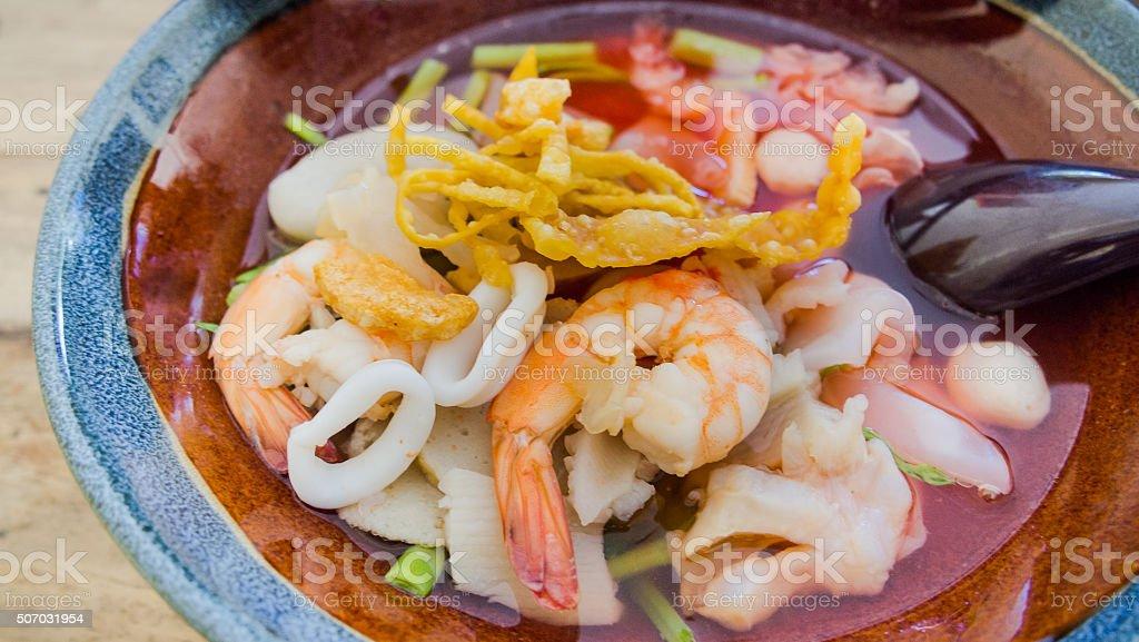 Thai noodle style stock photo