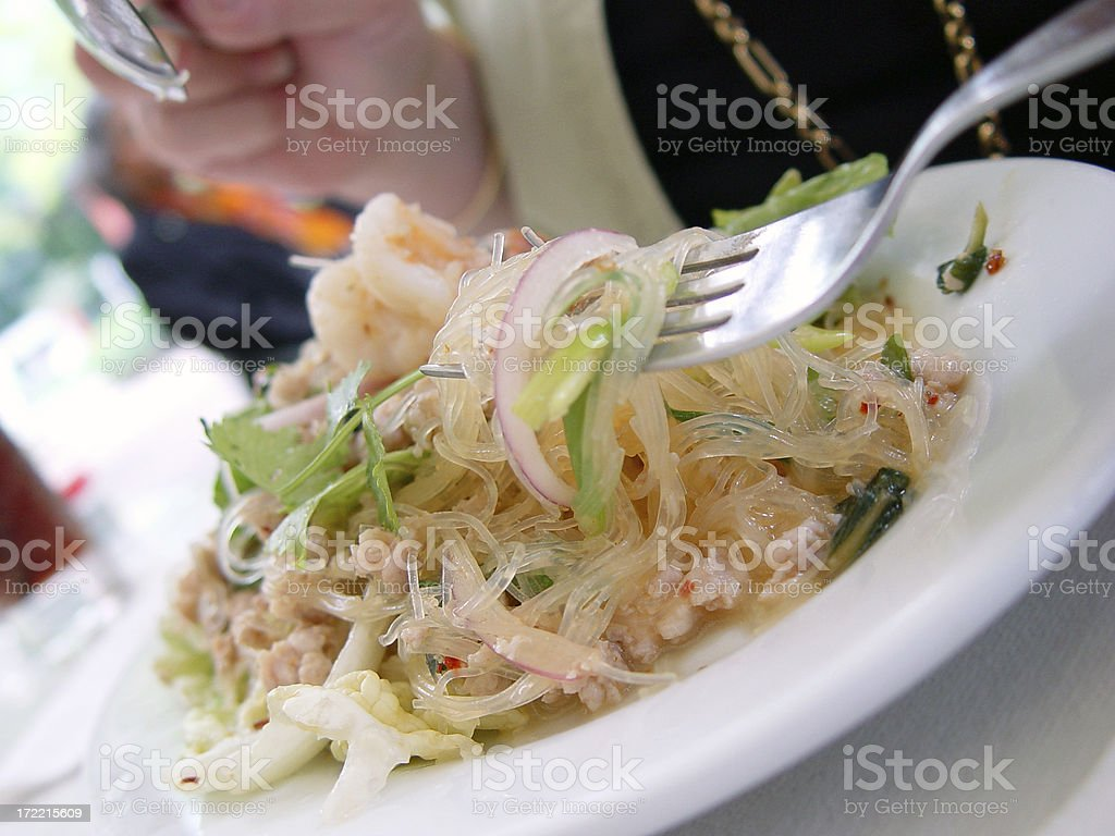 Thai noodles royalty-free stock photo