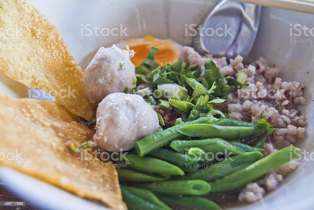 Thai noodles. royalty-free stock photo