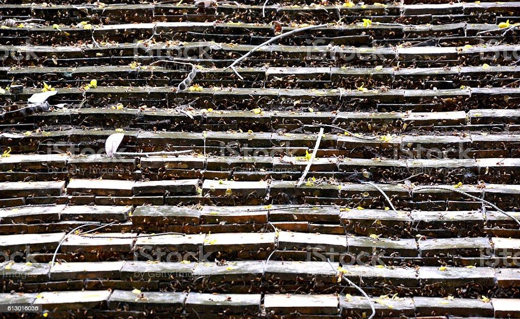Thai North brick roof texture royalty-free stock photo