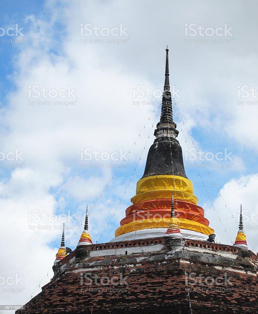 Thai pagoda royalty-free stock photo
