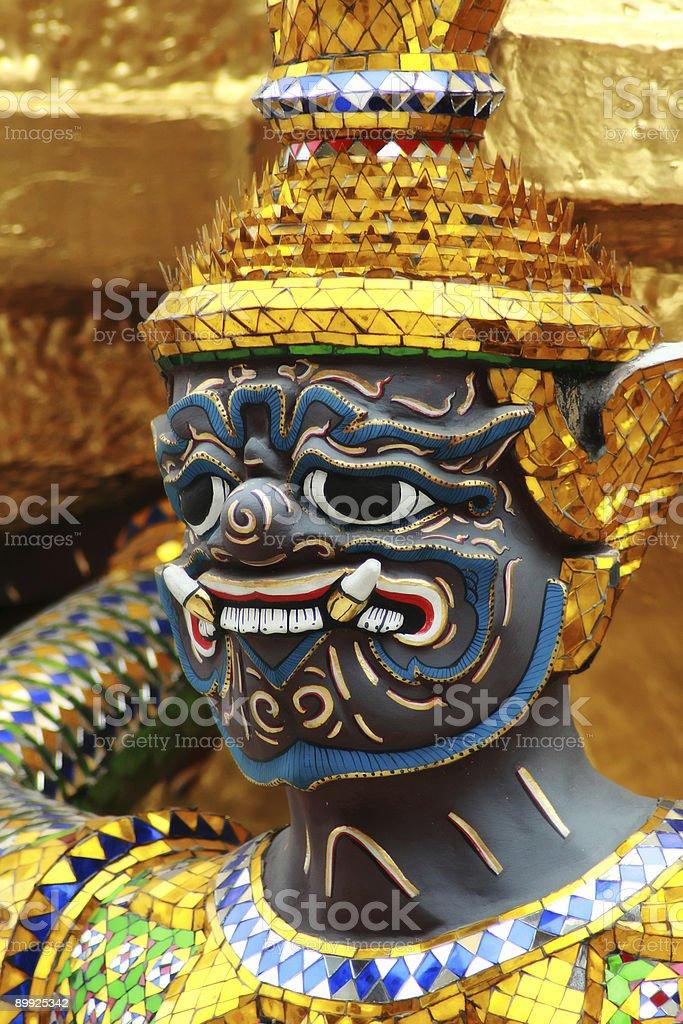 thai palacio de seguridad foto de stock libre de derechos