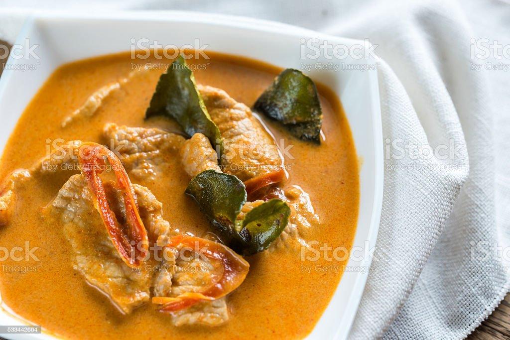 Thai panang curry stock photo