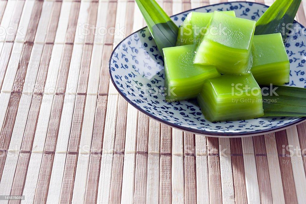 Thai Pandan Layer Sweet Cake stock photo