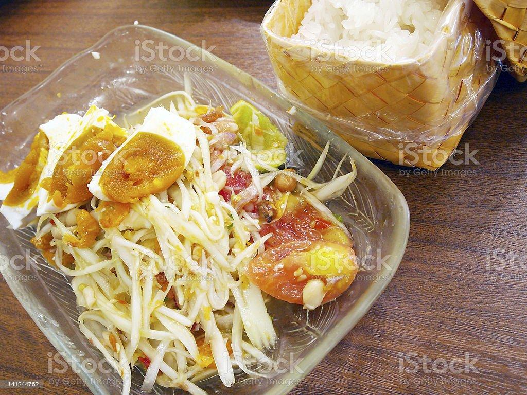 Thai papaya salad royalty-free stock photo
