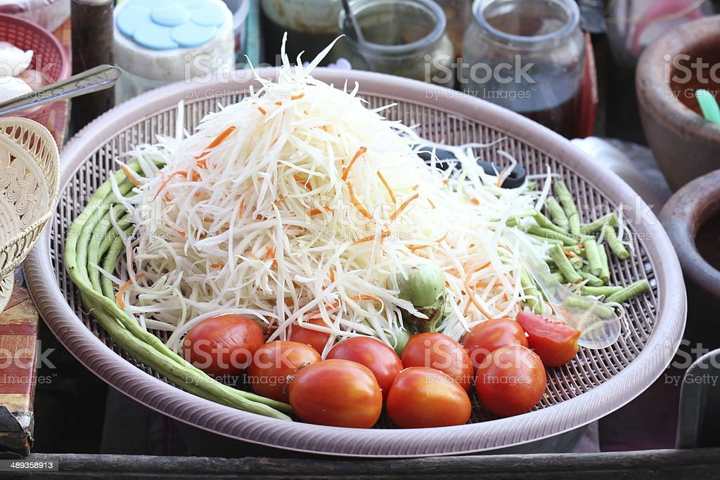 Thai papaya salad royalty-free stock photo