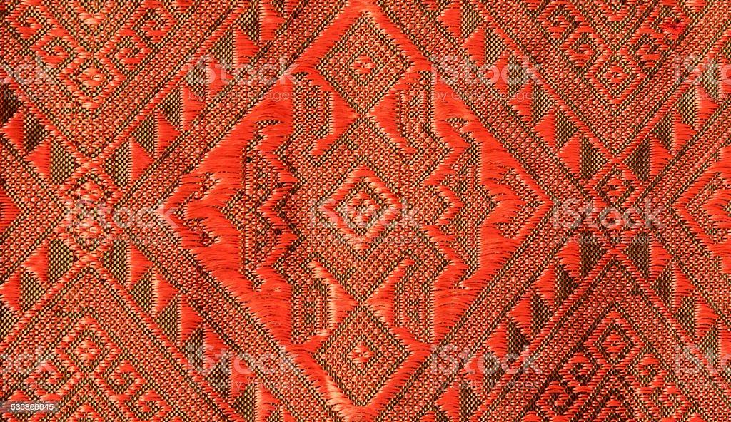 Thai pattern fabric royalty-free stock photo
