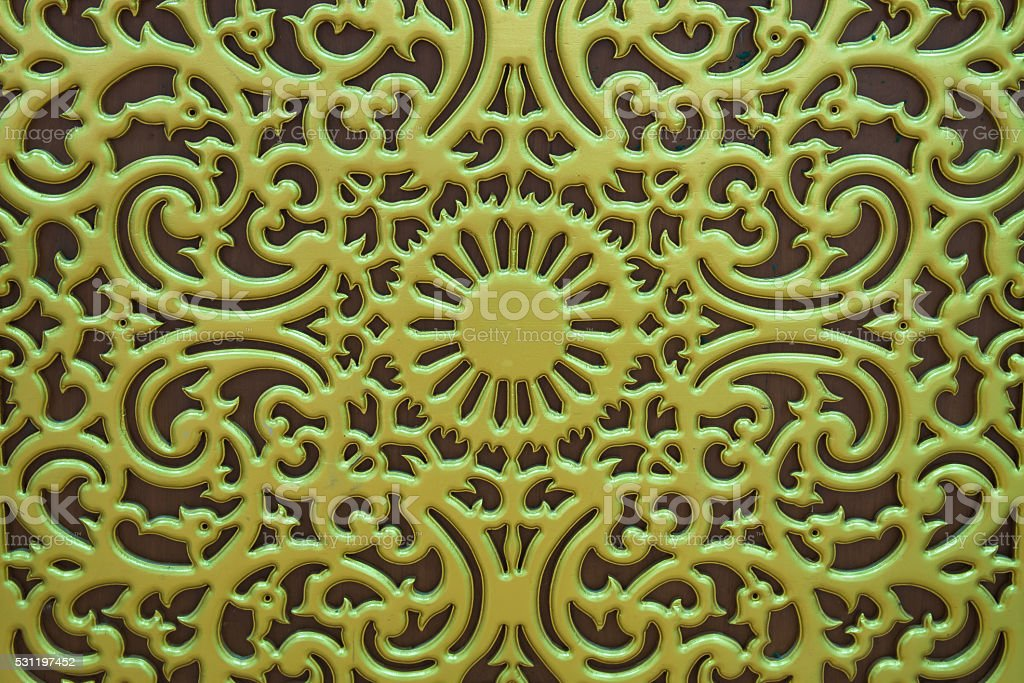 Thai pattern golden carve in temple royalty-free stock photo